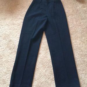 Classic black Ralph Lauren side zip dress pant